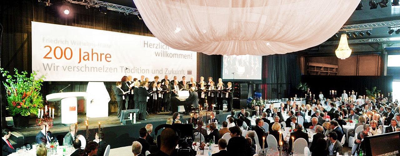 Firmenjubiläum der Friedrich Wilhelms-Hütte, Mülheim/ Ruhr