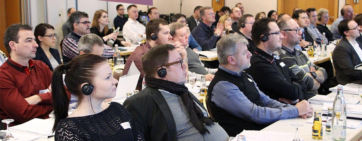 Dolmetscheinsatz bei einer Kundenveranstaltung der Knauf Gips KG in Köln